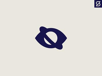 Eye Planet space ring saturn planet pupil eye branding design vector logo