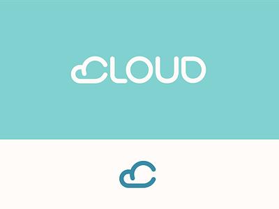 Peachtober day 3: Cloud inktober peachtober illustrator branding weather sun sky lettermark cloud typography logo