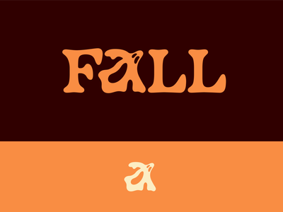 Peachtober day 6: Fall halloween phantom autumn fall ghost typography branding illustrator vector logo