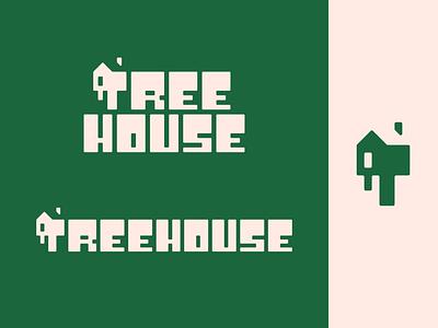 Peachtober day 7: Treehouse inktober peachtober tree home house treehouse illustrator typography branding logo