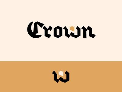 Peachtober day 8: Crown inktober peachtober gold king crown illustrator branding typography logo