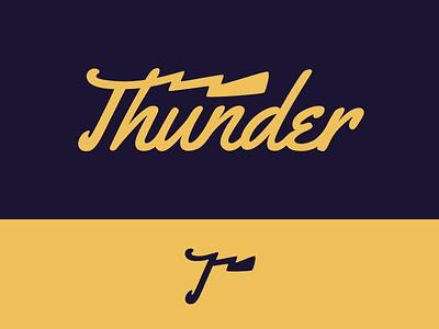Peachtober day 9: Thunder peachtober inktober weather bolt thunder lightning typography branding illustrator vector logo