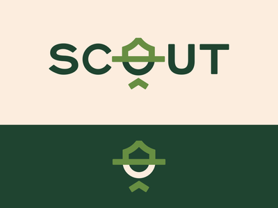 Peachtober day 14: Scout outdoors camping boyscout scout hat typography branding vector logo