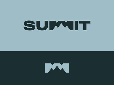 Peachtober day 16: Summit inktober peachtober lettermark winter peak summit mountain typography branding design vector logo