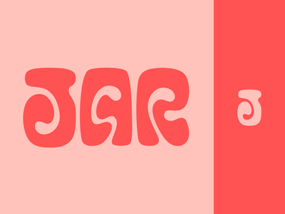 Peachtober day 17: Jar jar inktober peachtober lettermark typography branding design logo