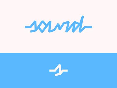 Peachtober day 20: Sound soundwave music sound noise lettermark wordmark typography branding vector logo