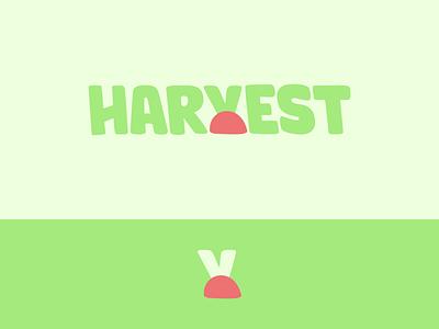 Peachtober day 23: Harvest vegetable farming peachtober inktober harvest typography branding design vector logo