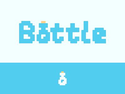 Peachtober day 26: Bottle cork water jar bottle peachtober inktober typography branding vector logo
