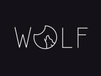 Minimalist wolf design