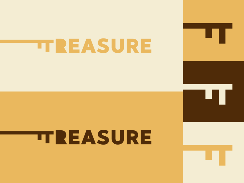 Inktober day 21: treasure treasure inktober key inktober2019 flat  design design logo illustration vector