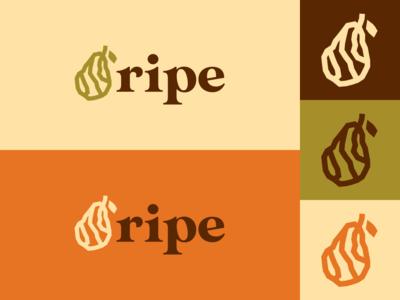 Inktober day 31: ripe illustrator design logo inktober inktober2019 illustration vector rustic pear ripe fruit