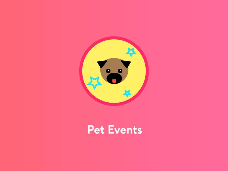 Party Pug animals cafe logo illustration graphic  design ux ui dogs icon iconography corporate branding branding brand identity