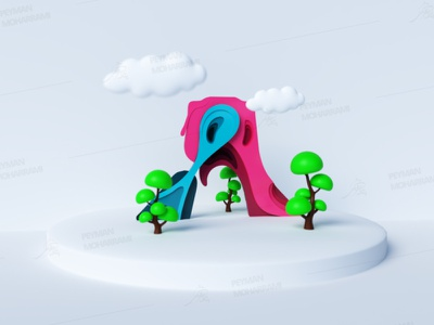 Azadi Tower 3D ایران tehran iran تهران آزادی برج آزادی azadi tower abstract illustrator illustration art graphic illustration art adobe design