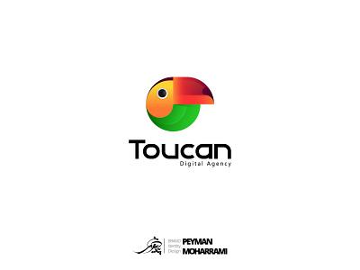 Toucan Digital Agency logotype لوگوتایپ طراحی لوگو لوگو digital agency toucan branding ui logo illustration art graphic illustration art adobe design
