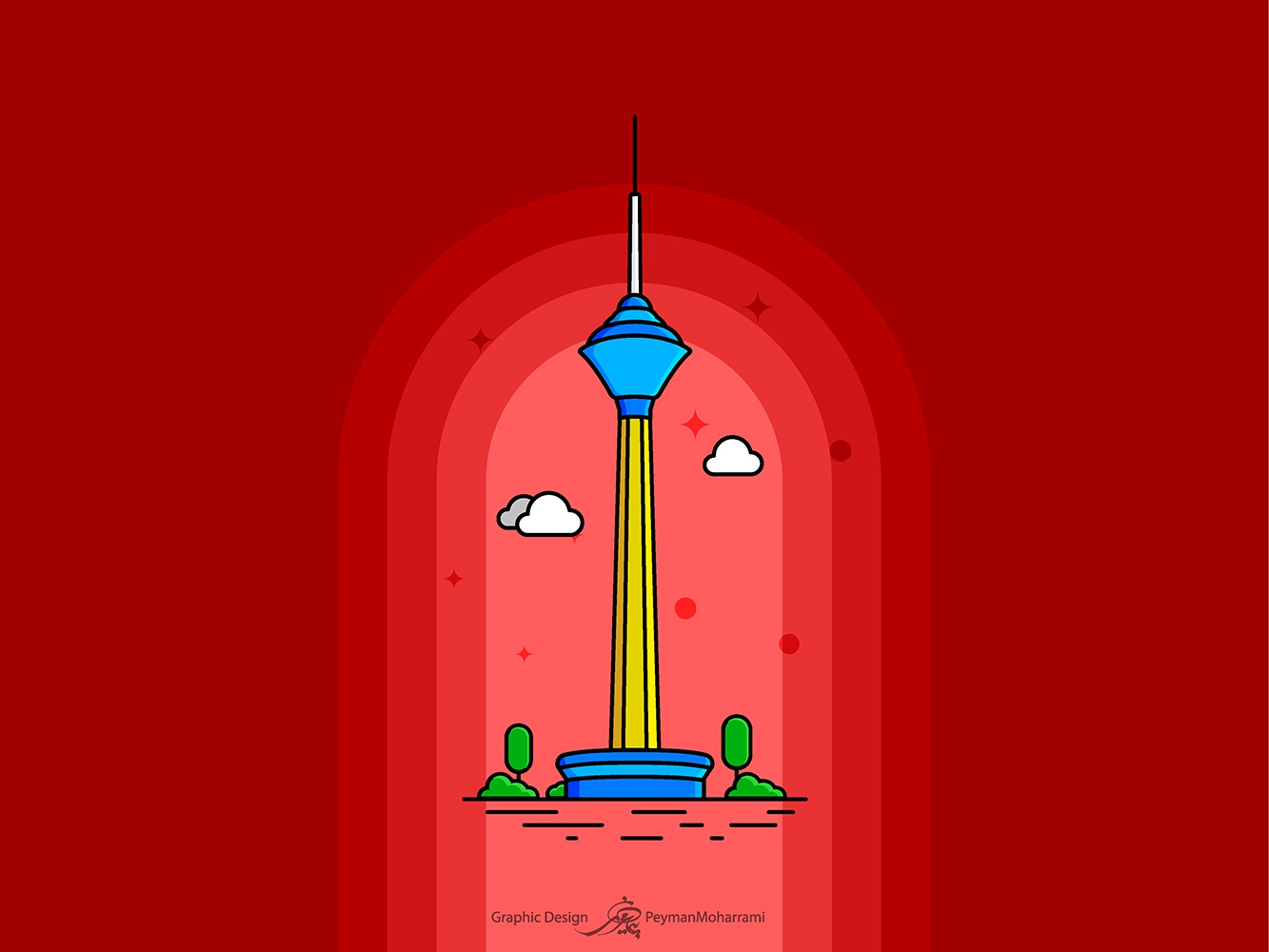 Milad Tower milad milad tower branding tower bridge abstract tower icon vector illustration design illustration agency illustrator illustration art graphic flat logo illustration design art adobe