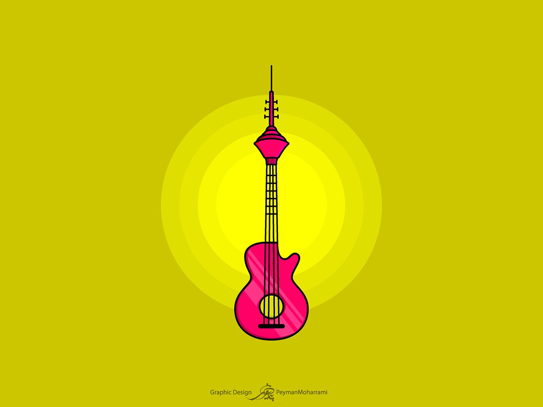 Giutar Milad milad tower bridge abstract tower vector illustration design illustration agency illustrator illustration art graphic flat logo illustration design art adobe