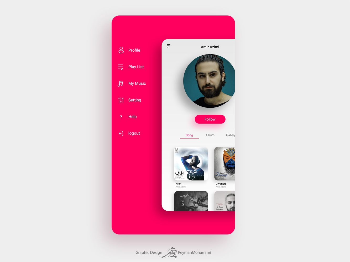 Music App minimal lettering website type web icon app ui ux illustration design illustrator illustration agency flat logo illustration art graphic illustration design art adobe