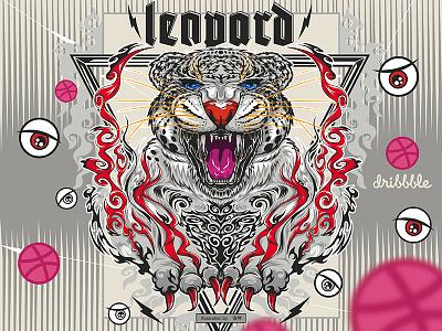 leopard Illustrator art, illustration,animal current illustrator,tidal leopard,animal