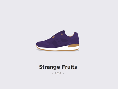 """Saucony X Play Cloths - """"Strange Fruits"""" sketch crep play cloths saucony trainer sneaker illustration sneakers trainers"""