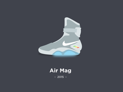 Nike Air Mag nike air mag 2015 marty mcfly back to the future trainer sneaker illustration