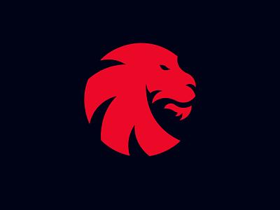 Lion Logo Design lion esports esports logo lions red tiger lion mascot logo lion mascot cashdesign lion logo design circle logo agressive lion
