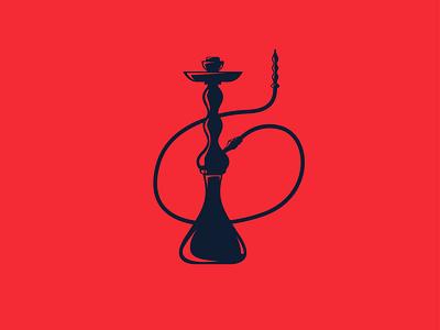 Hookah Logo Design clubs club restaurant pub brand red logo smoker cigarette cigars smoke logo smoking shisha logo hookah logo shisha hookah