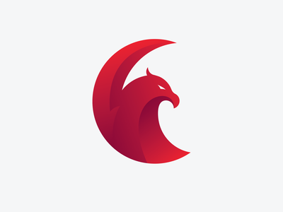 Eagle Logo Design branding furious logo illustration cashdesign esport logo red eagle logo red logo bird logo bird hawk logo hawk eagles gradient icon gradient eagle logo eagle