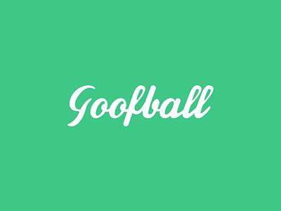 Goofball Logo Design typography vector illustration branding logo design text logo design elegant text logo green logo cash design cashdesign eyes logo design calligraphy logo goofball logo