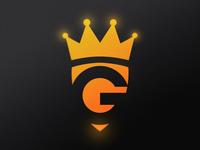 "Negative space ""G"" + Shield + Crown"