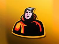 Person mascot logo