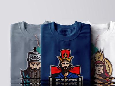 Illustration series of Armenian Kings t-shirt