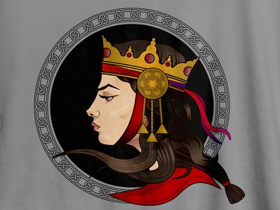 Armenian Queen Illustration