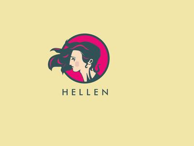 Hellen logo design