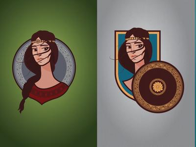 Medieval Armenian girl illustration