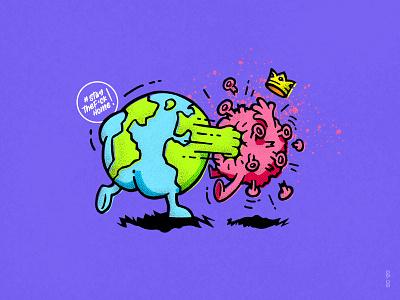 COVID-19 Facepunch pandemic pandemia global safety zostanwdomu siedznadupie koronawirus wirus together facepunch punch fight world staythefuckhome illustration virus covid-19 coronavirus corona