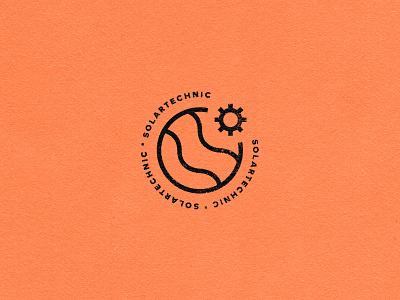 Solartechnic orange distorted logodesign solartechnic solar logo icon