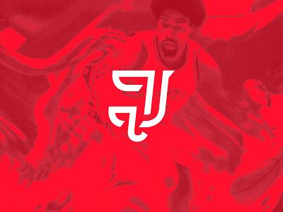 Dr J Logo typography logo vintage nba tribute basketball julius erving dr j letter j