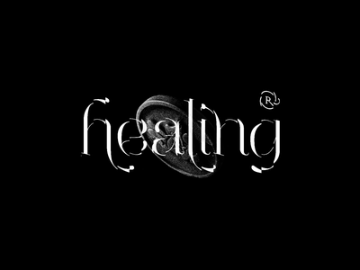Healing Time 2 weed blackwhite coin relax stash typography motion healing
