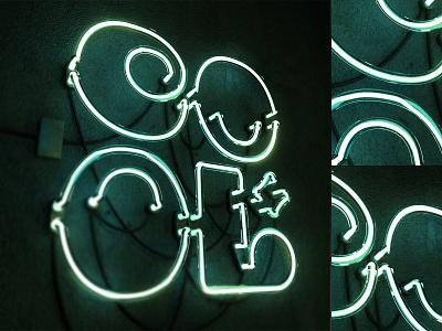 COOL Neon vector concept illustration typo typography design corona neon cool c4d render 3d