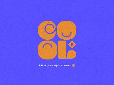 COOL Typo print vector illustration typo typography logo design concept cool logo cool