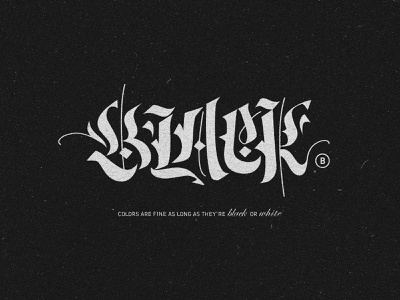 Black Typo gothic letters black typography typo
