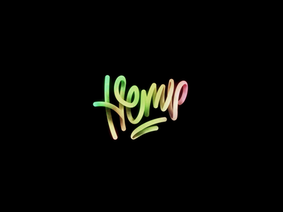 HEMP Typo Animation handlettering ae animation goodmood weed dynamic colors letters calligraphy hemp typography