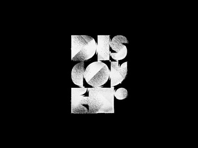 Discover Typo blackwhite abstract discover letters typo typography