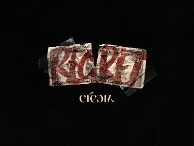 C.R.E.A.M bills dollar damaged grunge broken typography regret letdown money cream
