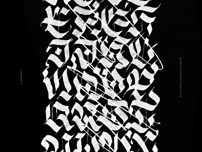 BLCK textura gothic blacklettering black lettering typography typo