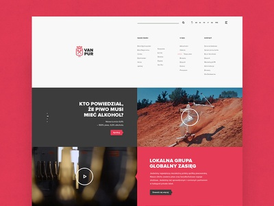 VAN PUR / Official Website brewery bottle official beer webdesign web pur van