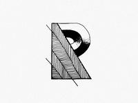 R letter sketch
