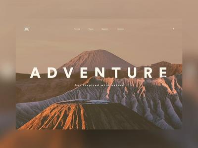 Adventure LP excercise explore landing page lp typography ui  ux design ui web xd adobe animation