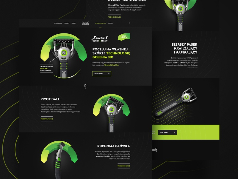 Wilkinson Extreme 3 Ultra Flex LP wilkinson webdesign web landingpage landing lp design
