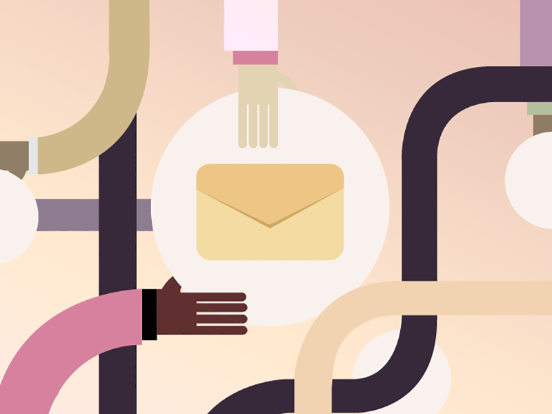 email  hands gradient email icon pastel